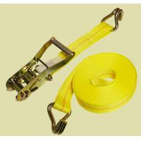 Quality yellow ratchet tie down with double J hook for sale