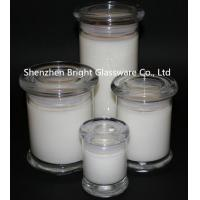 China top popular different size glass candle jars with lid in stock wholesale