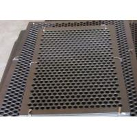 Buy cheap Round Hole Perforated Steel Sheet , Q235 Steel Galvanised Perforated Sheet from wholesalers