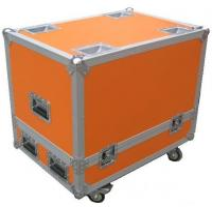 China Orange 12U Flight Case Hardware Plastic Cases For DJ Mixer Case wholesale