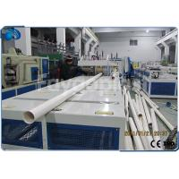 China 75~250mm PVC Pipe Manufacturing Machine With Siemens PLC Electric Control wholesale