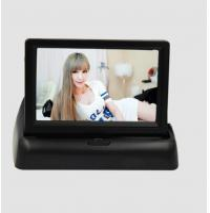 China 3 Watt Digital Rearview Foldable Car Video Monitor 2 channels DC12V wholesale