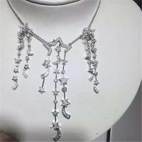 China Luxury Brand Jewelry diamonds of comet necklace 18kt gold  with yellow gold or white gold wholesale