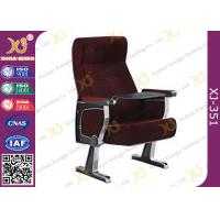 China Fabric Upholstery Aluminum Alloy Government Auditorium Chairs Dirt Resistant wholesale