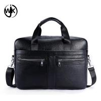 China Guangzhou factory handmade leather bag business man shoulder bags leather laptop handbag wholesale