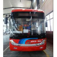 China CKD SKD Parts Pure Electric Mini Van Bus 39 Seater Red With Electric Blast Pump on sale