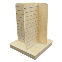 China Garment gondola Four side MDF Slatwall Display Stand Units with wire hooks, hangers wholesale