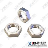 China Monel K500 China hardware stainless steel hex thin nut wholesale