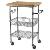 China Chrome Finish Kitchen Wire Utility Cart With Wheels Multifunctional wholesale