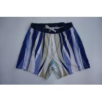 China Quick Dry Colorful Stripes Recycled Board Shorts With Elastic Waistband wholesale