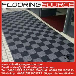 China Interlock pvc  tile floor mat for entrance wet areas school mat entrance mat wash room mat indoor pvc mat outdoor mat wholesale