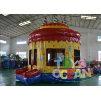 Quality Kids Inflatable Indoor Bounce House / Commercial Bouncy Castle With Cake for sale