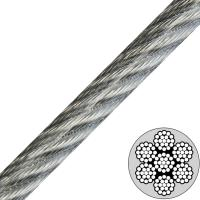 China 3/16 (7x19) Galvanized Vinyl Coated Aircraft Cable to 1/4 Break Strength 4200lb wholesale