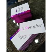 Pantone Color Foil Edge Business Cards , Custom Printable Business Cards