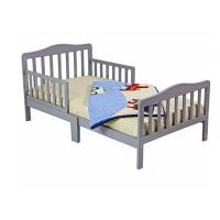 China Beautiful Childs Wooden Bed With Two Safety Rails , Childrens Pine Beds Middle Leg wholesale