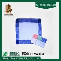China Strong Absorption Kitchen Tea Towels White and Blue Checker Dish Towels 35*55cm wholesale