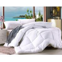 China Polyester Microfiber Filling Comforter White Hotel Duvet / Quilt with Binding wholesale