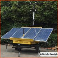 China LED mobile solar portable light towers DC24V with Solar System wholesale