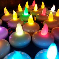 Flashing Seven Colors Hips Plastic Water Floating Led Candles For Pool Of Item 101855954