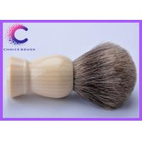 China Grey  Safety Razor Pure Badger Shaving Brush with faux ivory handle wholesale