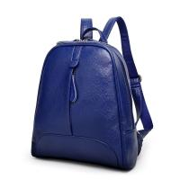 China Double Zipper Fashion Ladies Backpack With Waterproof Leather / Reinforce Shoulder Straps wholesale