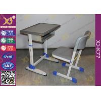 China School Furniture Single Student Desk And Chair With Strengthened Station Leg wholesale