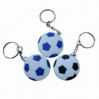 China keyring, football shape keyring with various shapes and sizes are available,your designs available wholesale
