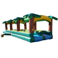 China inflatable tropical slide ,jumping castles animal style inflatable slip slide wholesale