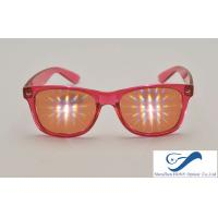 China  Party Plastic Frame 3D Diffraction Glasses , Durable Rainbow Prism Glasses  for sale