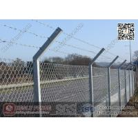 """China Chain Link Fence   Anti Intruder Security Chain link Fencing with """"V"""" arm post wholesale"""
