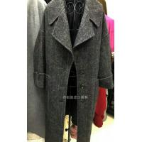 Buy cheap 50% wool Black and White 10cm big herringbone for women's winter coat double from wholesalers