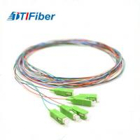 China SC/APC Pigtail Fibra Optical 6 Fiber SM Multi Color 3 Meters Length ROHS Certificated wholesale