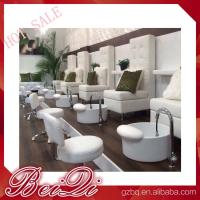 Buy cheap luxury white leather king chair manicure and pedicure furniture spa chair leather cover from wholesalers