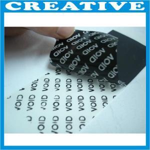 China void sticker label wholesale