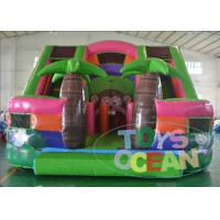 China Digital Printing Monkey Theme Tropical Inflatable Slides Jungle EN14960 Approved wholesale
