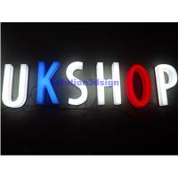 China Newly novel design outdoor advertising 3D acrylic LED face illuminated logo Sign Channel Letters on sale
