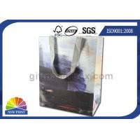 China Personalized 190g White Kraft Paper Shopping Bags Full Color Printing SGS Approval wholesale