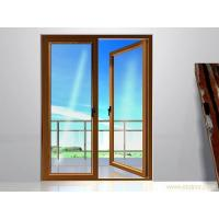 China 0.8 mm  Patio Swing Interior Double Opening Doors Wood Grain Durable Safety wholesale