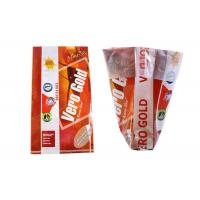 China Three Side Wheat Flour Packing Bags , Oversized Stand Up Plastic Bags For Food Packaging wholesale