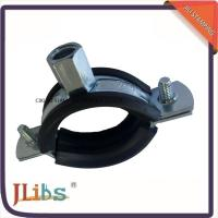 Quality Stainess Steel Pipe Holder Bracket Rubber Lined Split Clamp 304 Pipe Clip for sale