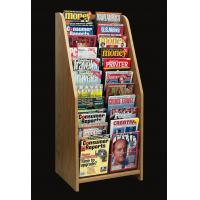 China MDF floor literature leaflets Magazine Display Rack with clear acrylic 11 compartments wholesale