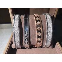 China van cleef estate jewelry Shining 18K Pink Gold Van Cleef And Arpels Diamonds Bracelet Medium Model wholesale