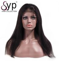 China 100 Percent Human Hair Remy Lace Front Wigs Thick Curly Hair Natural Looking wholesale