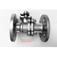 China 2PC Stainless Flanged Ball Valve API 608 Floating Type With Mounting wholesale