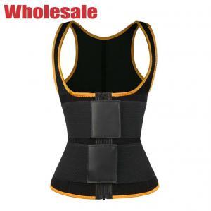 China Orange 2 Straps 3XS To 6XL Workout Waist Trainer Vest Sauna Tank Vest wholesale