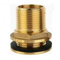 China 15mm od yellow brass color forged brass compression fitting straight threaded water tank connector on sale