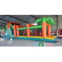 China Bouncy Indoor Inflatable Obstacle Course Rentals Customized For Kids wholesale