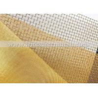 Wholesale High Stability Fine Brass Mesh , Light Weight Woven Brass Mesh Non - Toxic from china suppliers