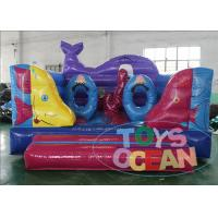 China Mini Indoor Open Sea Inflatable Bounce House Ocean Theme With Obstacle wholesale