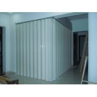 China Washable PVC Folding Door Interior , Foldable Toilet Door Moisture Protection on sale